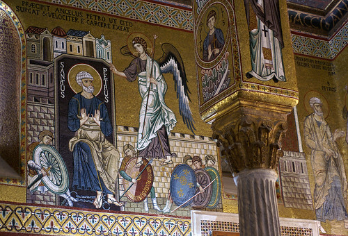 Palermo, Palazzo dei Normanni, Cappella Palatina, Die Befreiung Petri (The deliverance of St. Peter)