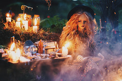 wicca III (AzureFantoccini) Tags: bjd doll abjd balljointeddoll granado ozin5 emon eva wicca forest magic witch witchcraft dollroom miniature diorama october halloween creepy