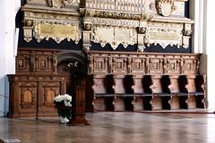 Celle, Niedersachsen, Stadtkirche St. Marien, choir stalls (groenling) Tags: celle niedersachsen deutschland de germany stadtkirchestmarien stalls chorgestühl wood carving woodcarving holz inlay intarsia intarsie