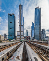 Going to the Big City (Mike L Washington) Tags: architecture highline nyc newyork train unitedstates what building cityscape newyorkcity us