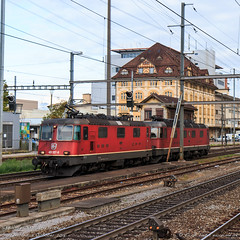 SBB 11337 and 11670, Pratteln (MacCookie) Tags: 11337 11670 420337 4203378 620070 6200703 918544203378chsbbc 918546200703chsbbc affolternamalbis bahnhofpratteln cff cantonofbasellandschaft cheminsdeferfédérauxsuisses confoederatiohelvetica europe ffs ferroviefederalisvizzere kantonbasellandschaft pratteln prattelnstation re1010 re44ii re44 re420 re66 re620 sbb sbbcffffs sbbcffffscargo sbbcargo sbbc schweiz schweizerischebundesbahnen suisse svizzera swissconfederation swissfederalrailways swissrailways switzerland bahn doppeltraktion doubleheader doubleheading eisenbahn electriclocomotive engine lightengine locomotive railways zug basellandschaft