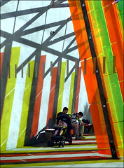 art of light and colour... (maggie224 -) Tags: light colour art lines angles red orange green yellow