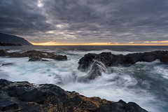 El Hierro (3) (Piotr Stachowiak) Tags: 2018 autumn otoño september elhierro wa wave smooth piotrstachowiak nikon d810 rock sunset longexposure le landscape sea seascape seaside atlantic ocean cloud sky dramatic moody charco azul canarias