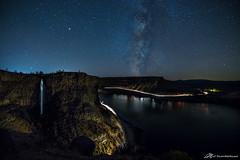 Darkness on the edge (Matt Straite Photography) Tags: night milkyway stars lights long water waterfall stream river headlights landscape nocturn