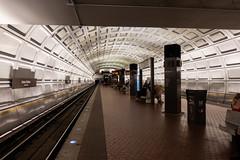 The metro was made for photographing. (wwward0) Tags: cc dc platform subway track underground washingtondc wwward0