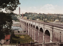 Years before spirals of highway exits and entrances, High Bridge over the Harlem River looked very stately. Harlem River Drive traffic now zooms on the other side of the river where a park once enabled people to enjoy the scenic view. New York. 1907 (wavz13) Tags: newyorkphotographs newyorkphotos urbanphotography urbanphotos oldbuildings vintagebuildings oldbridges vintagebridges oldhouses vintagehouses oldcottages vintagecottages oldphotographs oldphotos 1907photography vintagephotography vintagephotographs vintagephotos filmphotos filmphotography newyorkphotography oldnewyorkphotography oldnewyorkphotos vintagenewyork oldnewyorkphotographs vintagenewyorkphotography vintagenewyorkphotographs vintagenewyorkphotos uppermanhattan 19thcentury 19thcenturynewyork 19thcenturymanhattan oldbronx vintagebronx historicphotography historicphotos manhattanskyline newyorkskyline oldmanhattan vintagemanhattan autochrome oldcolorphotography vintagecolorphotography oldcolorphotos vintagecolorphotos