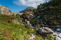 Llyn Ogwen Falls & Tryfan (russellcram) Tags: nikon d750 north wales tryfan llyn ogwen falls water waterfalls boulder trees