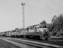 CR GP30 2181 (ex-RDG), GP9 7156 GP30 226. at Abrams Yard PA summer 1981 (swissuki) Tags: railroads rdg reading abramsyard abrams gp30 gp9 cr conrail