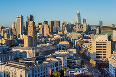 indian summer sunset (pbo31) Tags: sanfrancisco california nikon d810 color city urban october 2018 boury pbo31 fall skyline civiccenter over view salesforce tower panoramic large stitched panorama nobhill marketstreet 181fremont sunset tenderloin rooftops siemer