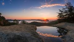 Rebirth (PhotoCT1) Tags: rrg redrivergorge kentucky sunrise auxier tunnelridge reflection fog cloud pines sandstone