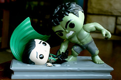 Hulk SMASH! (Doctor Beef) Tags: loki lokilaufeyson hulk avengers theavengers funko funkopop moviemoments toy collectible