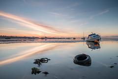 Refelections V (selvagedavid38) Tags: boat sea shore coast tide thames essex shoeburyness reflection dawn sunrise sun light water sky cloud beach