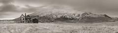 Dagverðará (efo) Tags: bw snæfellsnes iceland digital notfilm panorama abandoned house mountain fujifilm xh1