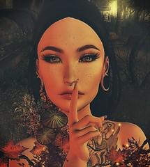 Shhhh (Nancy Sinatra photography) Tags: profile portrait secondlife life art face female