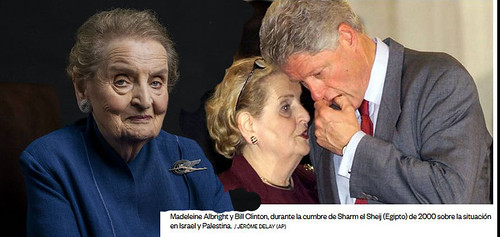Bill Clinton and Madeleine Albright