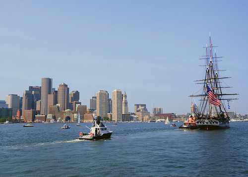 USS Constitution in Boston Harbor, variant