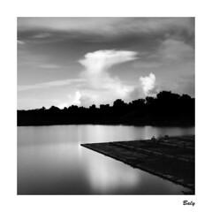 201809 映記  Yilan County (BALY WU) Tags: yilan county 宜蘭 羅東運動公園 taiwan hasselblad 503 cx 80mm f28 hp5 lc29 cloud geometry reflection 羅東鎮 sunset silhouette sky film
