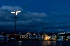 Oulu nights (socialtiger) Tags: oulu night finnland finland north weather cold atmosphere traveling real colors fomo sony a7iii square lights clouds karaoke finish art city town