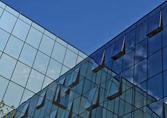 Spiegelung (Beutler Daniel) Tags: lugano architecture reflection grafisch glas fassade architektur tessin switzerland svizzera suisse schweiz