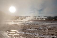 Rising Sun (Gary Grossman) Tags: springs geothermal ynp yellowstone midway firehole landscape nature sunrise steam garygrossmanphotography grandprismaticspring midwaygeyserbasin landscapephotography yellowstonenationalpark nationalpark wyoming