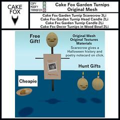 Cake Fox Garden Turnips (pienitiny) Tags: mieville events secondlife secondlifeevents designers decor garden cakefox halloween
