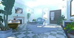 / Bathroom / (cuuka) Tags: second life secondlife sl kushino cuuka bathroom bath mansion room decoration pant green ice red sun redun marble luxury victorian french plants