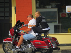 IMG_1008 (kennethkonica) Tags: streetphotography streets people candid old persons canonpowershot indianapolis indiana indy usa midwest america hoosier outdoor faces random global autumn motorcycle biker smoking couple blonde movement