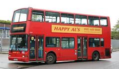 Happy Al's, Birkenhead LK03CFY returning to base following its afternoon schools duties. (Gobbiner) Tags: transbus tp422 happyals president birkenhead metroline lk03cfy plaxton london trident