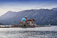 Church of Our Lady of the Rocks (Jocelyn777) Tags: landscapes seascapes mountains water islands churches monuments orthodoxchurches ourladyoftherocks perast montenegro balkans travel
