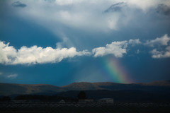 Saw a rainbow (kumakichi) Tags: 旭川市 秋の写真 虹 rainbow