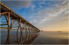 Steetley Pier Hartlpool (Antony Ward) Tags: tenstopfilter hartlepool steetleypier old disused reflections beach cloudsstormssunsetssunrises