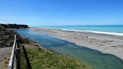 Ashburton River?Lagoon meets the Pacific Ocean. (Rachel B Amyes) Tags: ashburton midcanterbury southisland newzealand pacificocean beach eastcoast whitebaiting fishing sunshine raft lagoon
