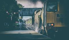 The last time? (Blaydon52C) Tags: class20 rhtt drs directrailservices railway rail railways trains train transport locomotive locomotives loco englishelectric type2 20303 20305 semaphore semaphores signals gilberdyke hull yorkshire northyorkshire