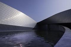 Da Blu planet (Leon Sammartino) Tags: architecture denamrk copenhagen modern lake pond pool line leading fujifilm summer