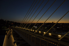 people on the bridge II (yasin.orhan) Tags: people sunset bridge geometry
