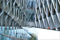 fractalism (Bernergieu) Tags: switzerland geneva japantobaccointernational jti architecture architektur windows glass glas fenster fassade spiegelung reflection abstract