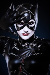 Catwoman (ZLyons) Tags: alienbees canon photoshop post movie dark man pride leather white blue black portrait batman catwoman cosplay