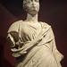Closeup of Statue of a Roman woman Head 20 BCE - 20 CE Torso 200 -100 BCE