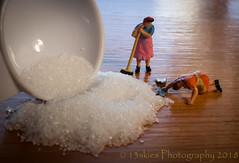 Always More Work To Do (HMM) (13skies) Tags: measurement macroscopic hmm spilled spill cleanup pickup ladies cleaners happymacromonday monday happymacromondays sonyalpha100 close homodelrailroadfigures smallfigures macro sugar white