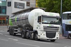 Abbey Logistics DAF XF DK13UFD - Bury (dwb transport photos) Tags: abbeylogostics daf hgv truck dk13ufd bury