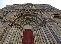 Fachada de Santo Estevo de Ribas de Miño, O Saviñao (Lugo) (Miguelanxo57) Tags: arquitectura románico medieval cantería fachada aquivoltas abocinamiento rosetón iglesia ribeirasacra osaviñao lugo galicia