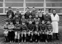 Class photo (theirhistory) Tags: teacher jumper jacket shorts shoes wellies wellingtonboots boy pupils kids children school class form