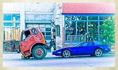 WHEELS--TRINIDAD COLORADO (akahawkeyefan) Tags: truck corvette car trinidad colorado davemeyer building