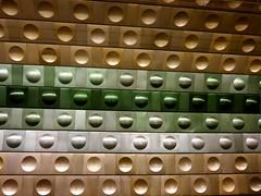 Gold for Design (rudi_valtiner) Tags: prag prague praha metro underground station design architektur architecture tschechien czechrepublic malostranská metall metal fliesen tiles fe ie