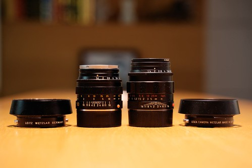 Leica M Summilux 50mm f/1.4 Version2 E43 & Summilux 50mm f/1.4 ASPH  Black Chrome 11688