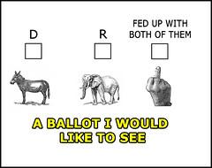 voting ballot meme (rjk9601) Tags: memes vote parties meme election humor republicans democrats politics ballot donket elephant finger funny