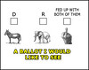 voting ballot meme (rjk9601) Tags: memes vote parties meme election humor republicans democrats politics ballot donket elephant finger funny