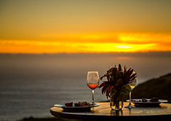 glass of wine at sunset (Margret Maria Cordts) Tags: pacificgrove