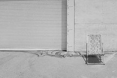 DSCF0191_SM (Chris28mm) Tags: bw blackandwhite space chair absent minimalism white wall door no one peaceful think