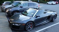 2014 Audi R8 5.2 Quattro V10 (D70) Tags: audi r8 v10 topless roadster parkgateshoppingcenter northvancouver britishcolumbia canada slvblk 2014 52 quattro
